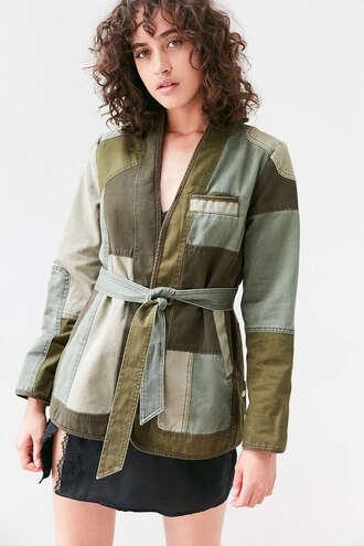 jacket patchwork denim jacket