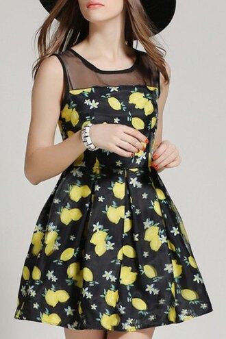 dress zaful mesh floral black dress cute dress girl summer dress trendy print