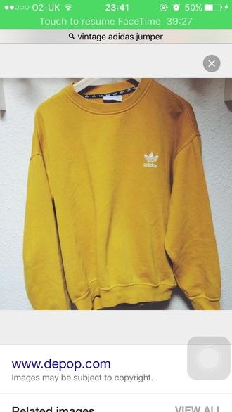sweater adidas yellow mustard oversized mens sweater mustard sweater