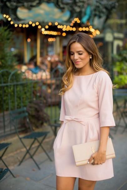 dress bag bow pink dress clothes wedding clothes party dress classy splendor of elegance summer dress