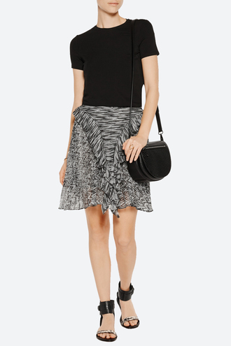 skirt isabel marant print ruffle pleated printed skirt