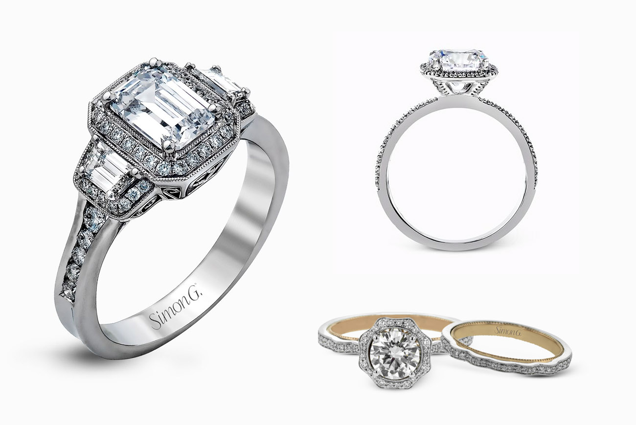 Unique   Stylish Engagement Rings with Simon G - Green Wedding Shoes