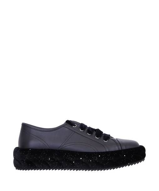 sneakers leather velvet shoes