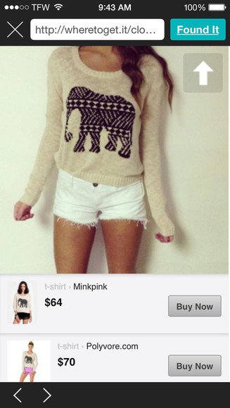 elephant sweater cute aztec aztec sweater elephant sweater cute sweaters