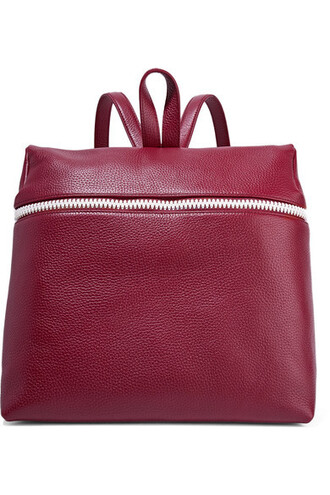 backpack leather backpack leather burgundy bag