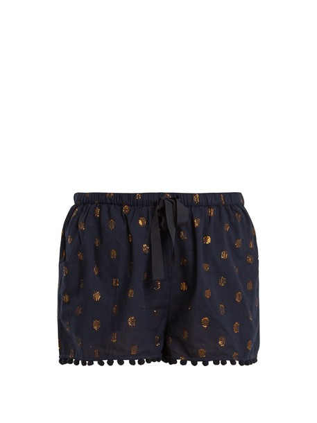 Figue shorts jacquard cotton navy