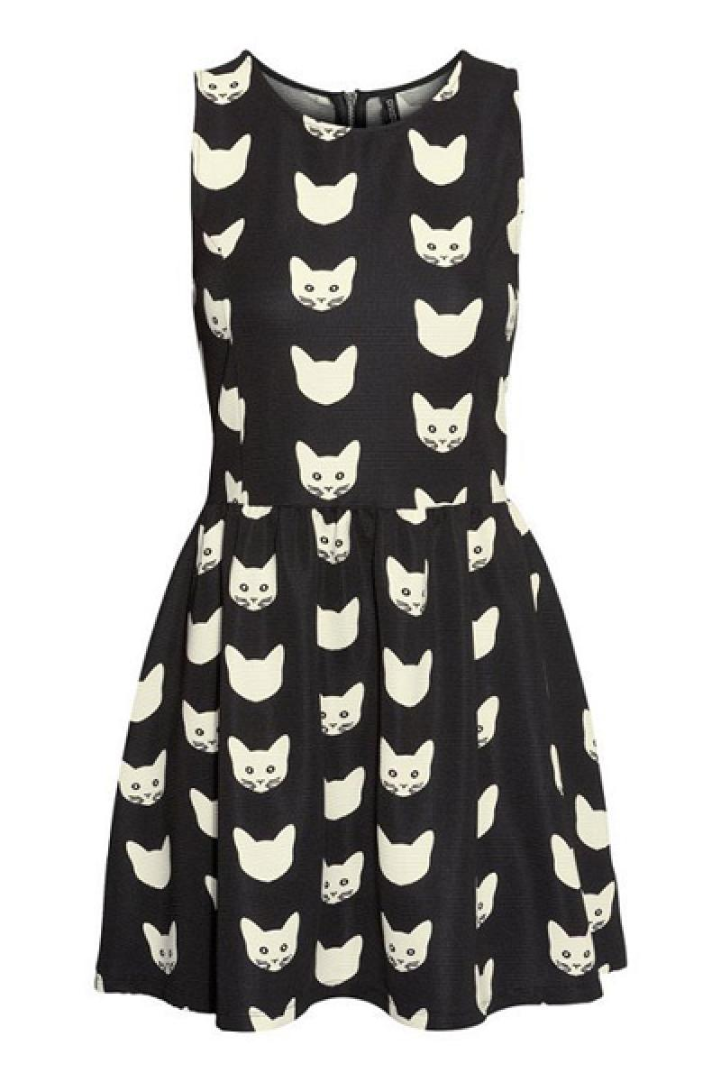 New Cats Skinny Sleeveless Dress,Cheap in Wendybox.com