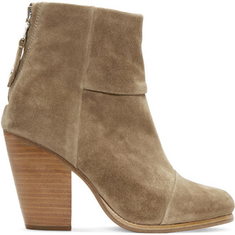 classic boots suede brown shoes