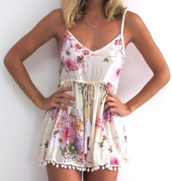 dress romper floral