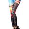 "Romwe | romwe ""new york skyline"" print blue leggings, the latest street fashion"