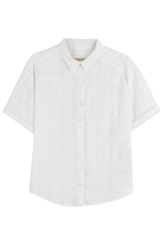 shirt sheer cotton white top