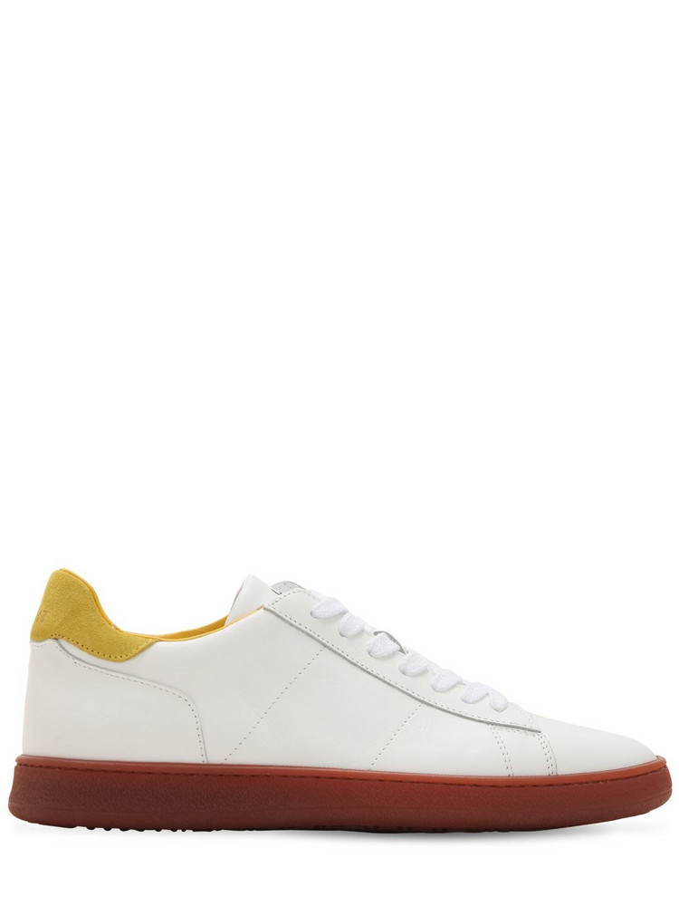 ROV Leather Low Top Sneakers in white / yellow