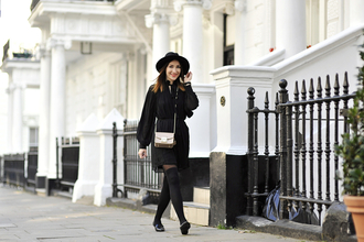 shiny sil blogger dress tights bag hat jewels shoes