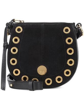 mini bag shoulder bag suede black