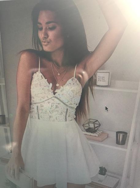 dress white dress white lace dress
