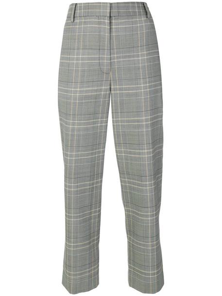 Tibi cropped women spandex wool grey pants