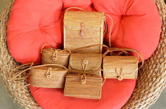 basket summer bag rattan resort purse