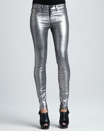 Skinny Midnight Coated Jeans - Bergdorf Goodman