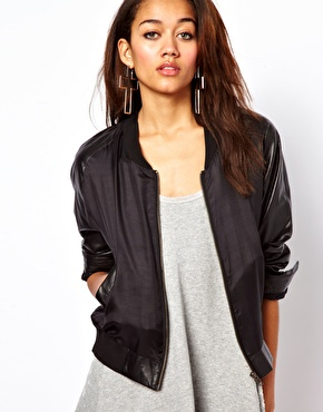 Womens Silk Bomber Jacket - My Jacket