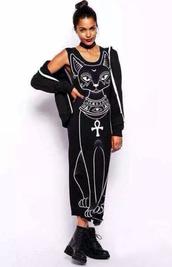 black dress,boho dress,dress corilynn,long dress,long,cats,hipster,egyptian