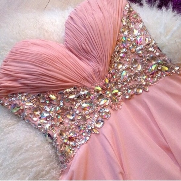 dress glitter pink pretty gown prom gown prom dress tuille cristals cristal pink dress prom sparkly dress
