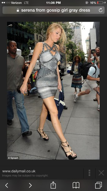 dress grey gossip girl dress serena van der woodsen