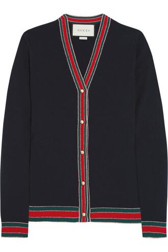 cardigan wool navy sweater