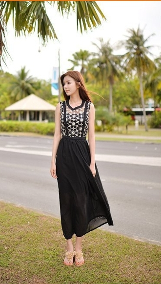dress chiffon sleeveless