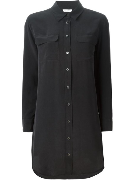 Equipment shirt oversized shirt oversized women black silk top