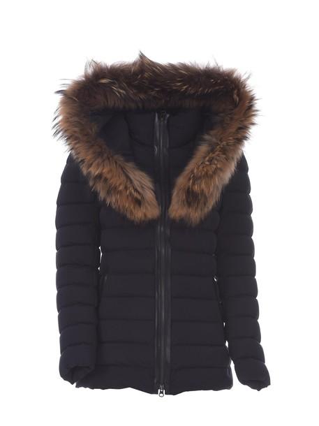 jacket down jacket fur light black