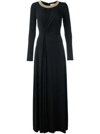 dress women spandex embellished black