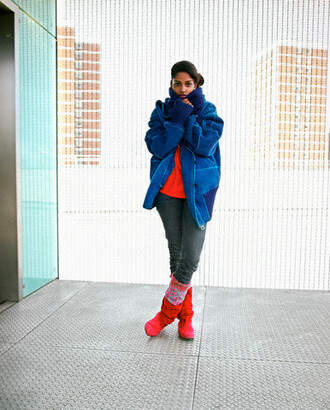 shoes boots snow boots red snow boots turquoise design red and turquoise boots