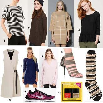 modern ensemble blogger t-shirt sweater blouse jacket dress shoes socks