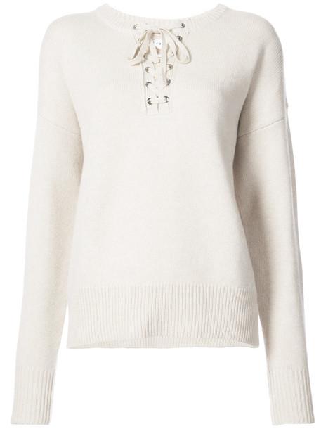 Robert Rodriguez jumper women lace white wool sweater