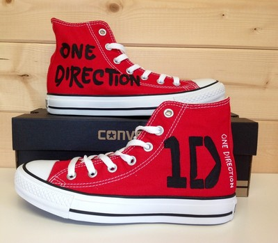 One direction converse sneakers anime/fandom custom shoes, best gift for men women · fanartshoes · online store powered by storenvy