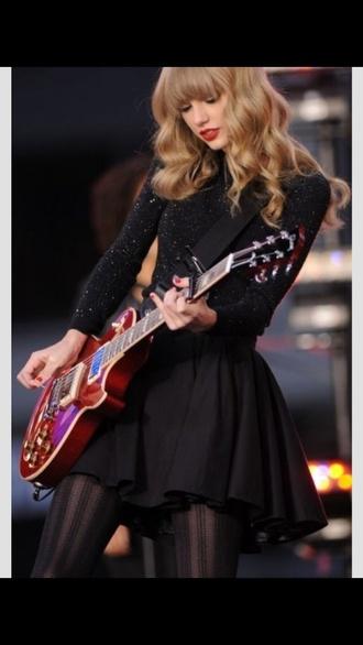 blouse taylor swift black skirt skirt black top black sparkly glitter