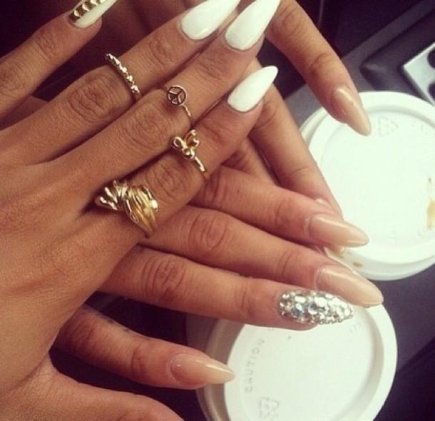 jewels, gold ring, nail polish, nails, nail art, girly, ring, gold ...