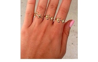 jewels anchor ring gold ring sailor