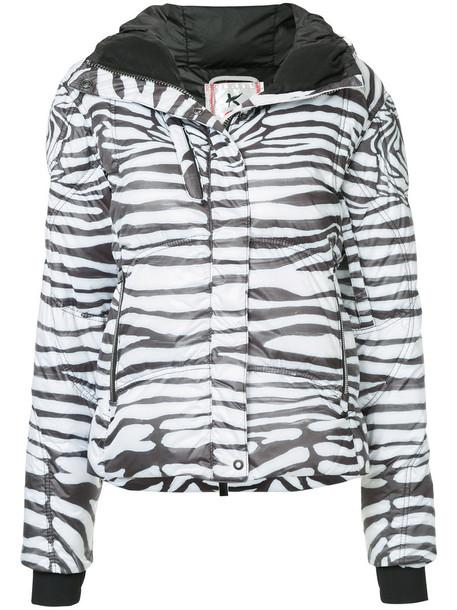 Kru jacket puffer jacket zebra women white