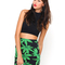 Buy motel kimmy mini tube skirt in green palm leaf at motel rocks