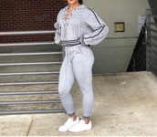 top,grey,lace up,two-piece,jugg fit,sweats,hoodie,sweatshirt