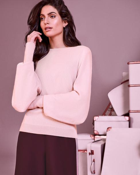 Ted Baker jumper cashmere jumper oversized light pink light pink sweater