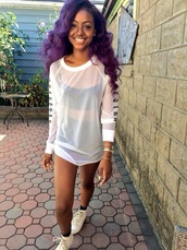 justine skye,white mesh,mesh top,shirt,blouse,sweater,black girls killin it,jusine skye,white,holes in shirt,singer,trapstar,mesh