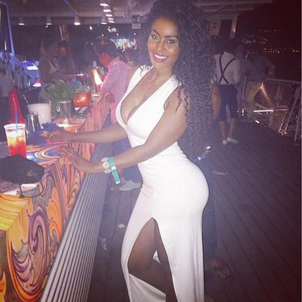 dress summer dress fashion white cute sexy bodycon dress deep v dress maxi dress white maxi dress sexy dress