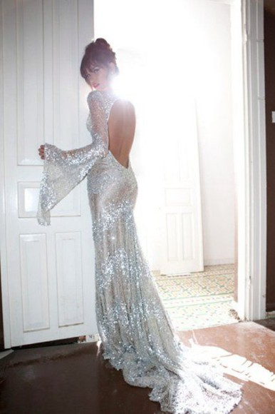 sparkly sparkle sparkles sparkly dress sparkly prom dresses maxi dress maxi maxi open back dresses gown gowns formal formal dress silver silver dress