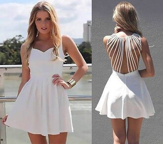 dress hollow strap dress