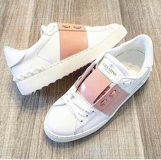shoes valentino shoes white pink designer bag pretty cute
