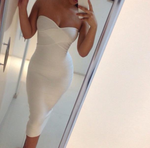 dress midi dress midi white dress white strapless strapless dress cross over dress