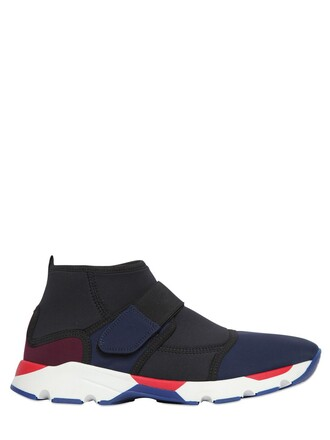 sneakers neoprene blue black shoes