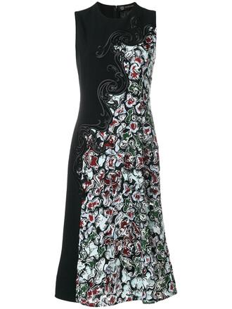dress baroque dress women black silk